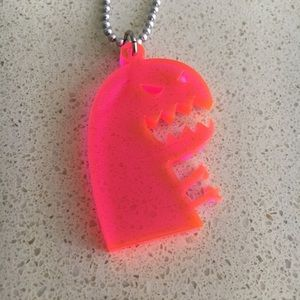 Pink Monster Necklace